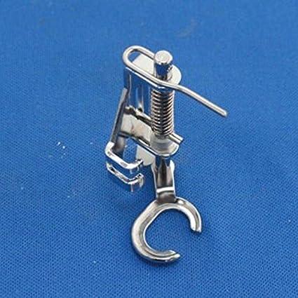 Tinksky Máquina de coser doméstica Open Toe Metal acolchado bordado prensatelas para el hermano Singer Janome