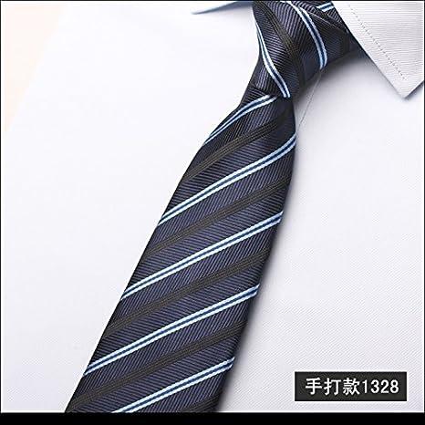 GENTLEE - Corbata de Hombre para Negocios, Color Azul Sarga ...