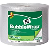 Duck Brand Bubble Wrap Original Cushioning, 12-Inches x 150-Feet, Single Roll (284054)