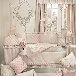 Glenna Jean Florence Girl's 4 Piece Baby Crib Bedding Set with Bumper by Glenna Jean