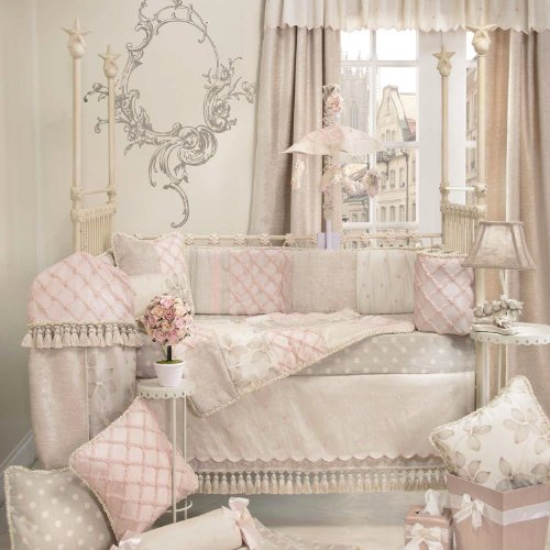 Florence 4 Piece Baby Crib Bedding Set with