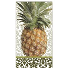 Ideal Home Range 16 Count Boston International 3-Ply Paper Guest Towel Napkins, Exotic Pineapple