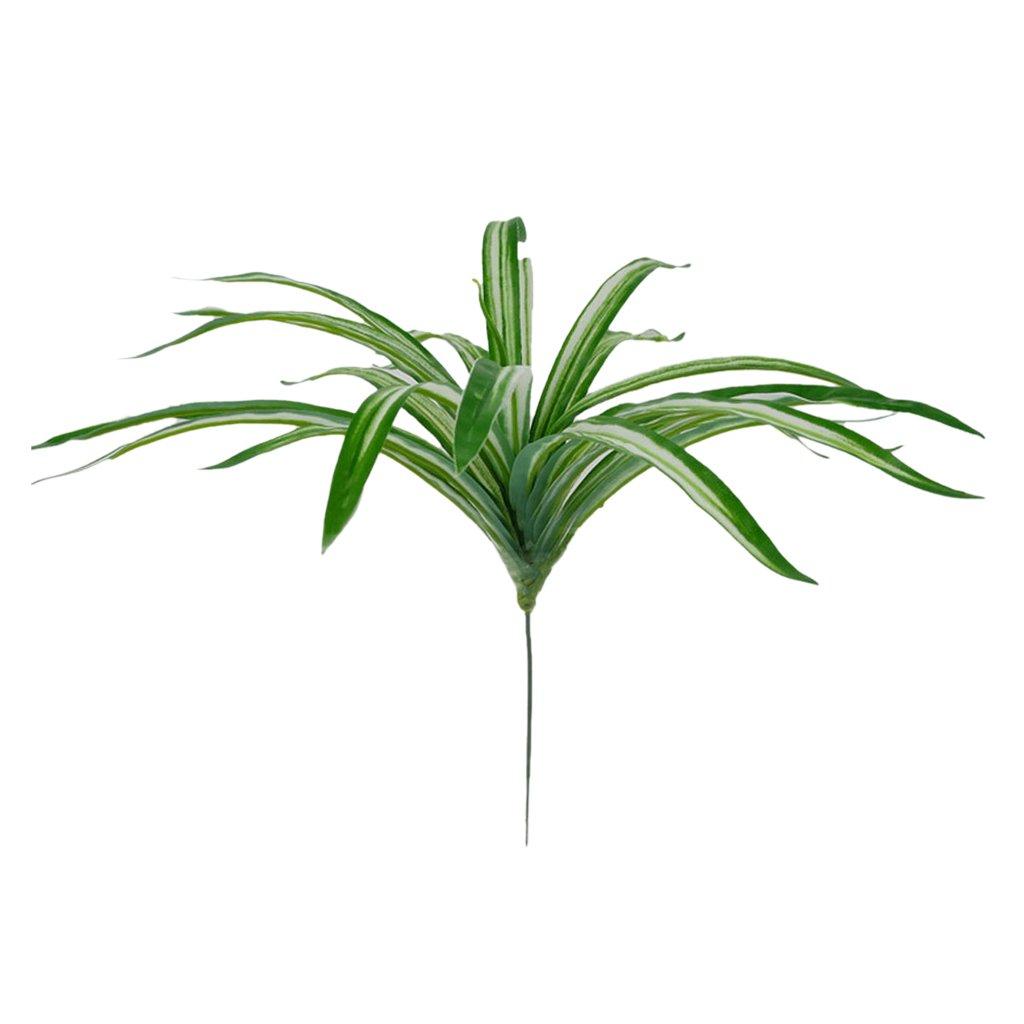 Chlorophytum Artificial Decoración Planta De La Araña De Seda De La Hierba Verde Follaje De La Planta Generic