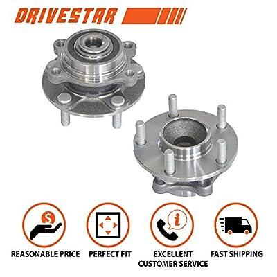 DRIVESTAR 513268x2 Front Wheel Hub & Bearing Assemblies pair fits 350Z G35 w/ABS: Automotive