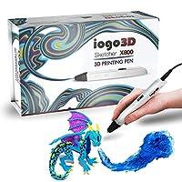 3D Pen 【Updated Model】with ABS Filament Refills - iogo3D 3D Drawing Printing Printer Pen Bonus ABS Filaments - for Kids Adults Arts Crafts Model DIY, Non-Clogging
