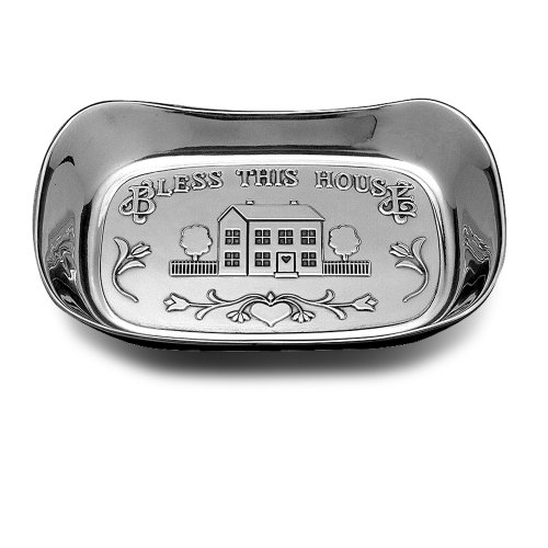 - Wilton Armetale Bless This House Bread Serving Tray, Rectangular, 7-Inch by 11-Inch