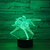 GTY TOEWR 3d Light, Colorful Remote Control Touch Led Light Creative Products Gift Night Light Usb Interface-Touch