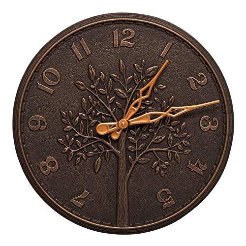 02244 Tree of Life 16 Indoor Outdoor Wall Clock in Oil Rubbed Bronze