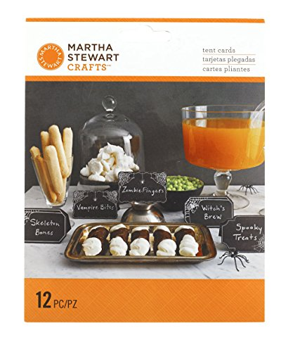 Martha Stewart Gothic Lace Tent Cards, (Halloween Ideas Foods)