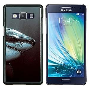 Qstar Arte & diseño plástico duro Fundas Cover Cubre Hard Case Cover para Samsung Galaxy A5 A5000 (Tiburón Blanco Jaw)