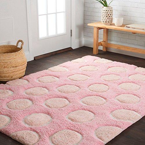 Polka Dots Pink Rug (Alexander Home Hand-tufted Riley Pink/ Multi Polka Dots Shag Rug (3'0 x 5'0))