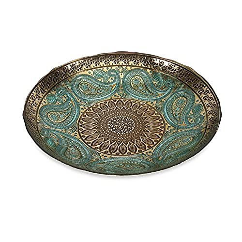 Imax Paisley Glass Bowl - Decorative Bowl with Elegant Design Food Safe Graceful Motif. Decorative Accessories  sc 1 st  Amazon.com & Decorative Plates: Amazon.com