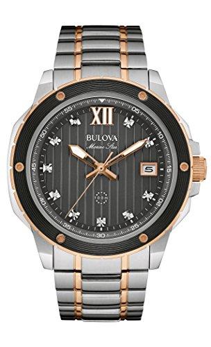 Bulova Men's Quartz Stainless Steel Dress Watch (Model: 98D127) (Bulova Diamond Wrist Watch)