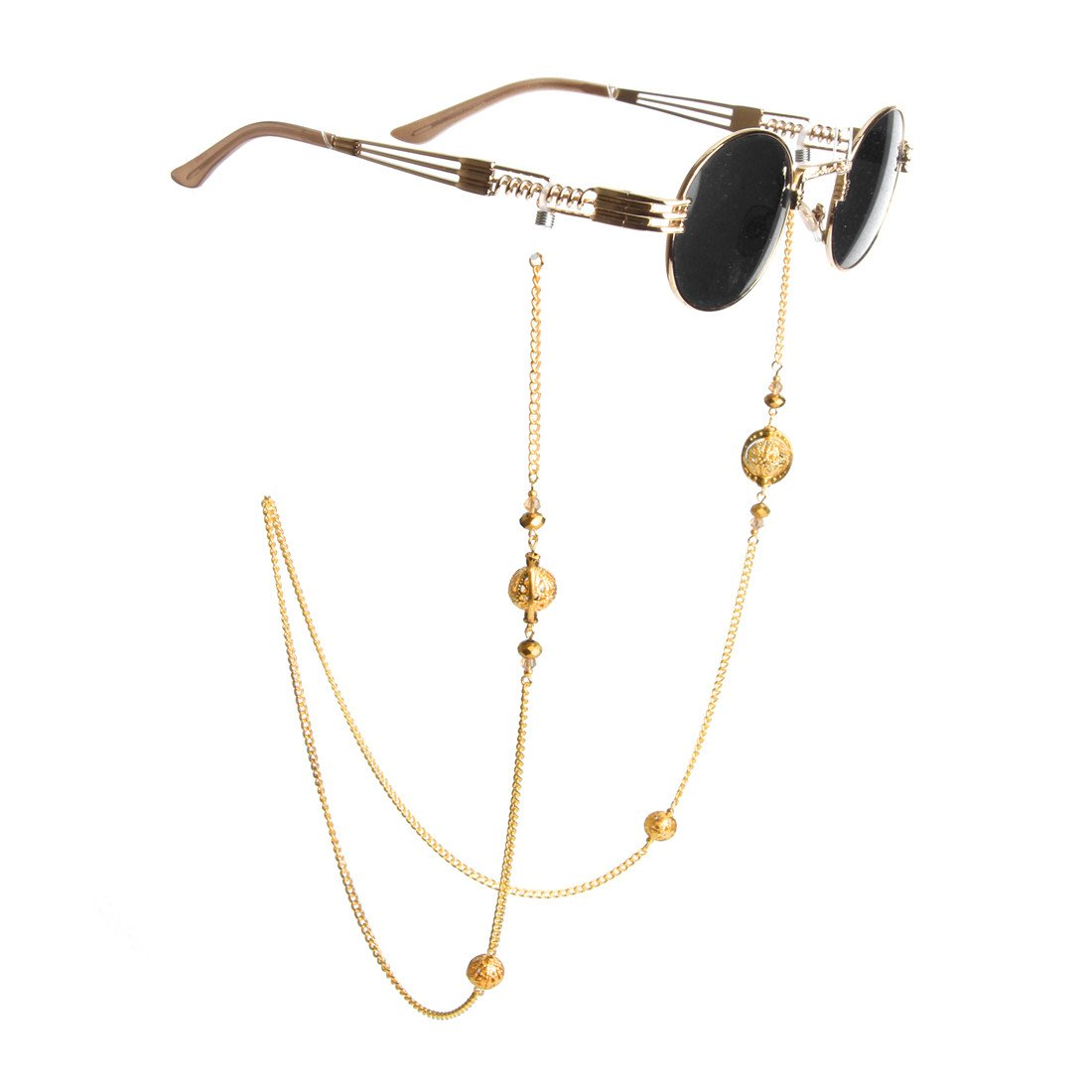 Kalevel Eyeglass Holder Necklace Eyeglass Chain Beaded Glasses Sunglasses Chain Eyeglass Chains and Cords for Women Gold
