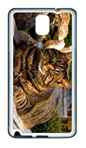 cases popular fluffy fat cat TPU White case/cover for samsung galaxy note 3 N9000