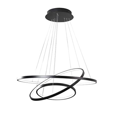 Houdes Dimmable Chandeliers Led Lighting Modern Three Rings Pendant Lamp For Dining Room Vanity Circle Lights