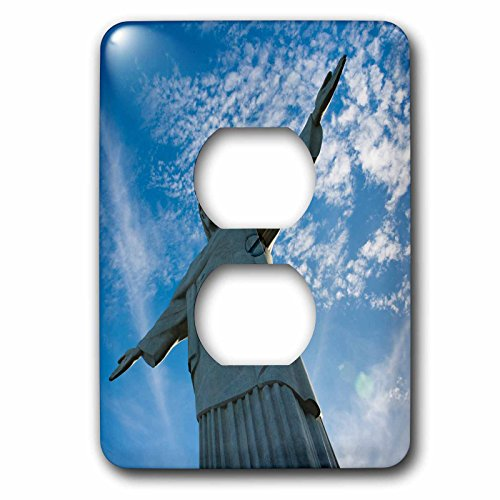 Danita Delimont - Religion - Statue of Christ the Redeemer on Corcovado, Rio de Janeiro, Brazil - Light Switch Covers - 2 plug outlet cover (Corcovado Christ Redeemer Statue)