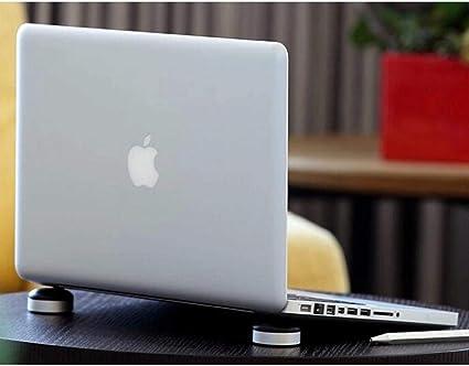 2 unidades de aleaci/ón de aluminio Mini soporte para ordenador port/átil mini soporte de refrigeraci/ón para ordenador port/átil MacBook Pro color plata MacBook Air//iPad Pro//iPad Air//Surface//Tablets