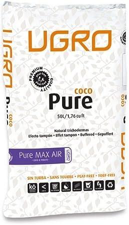 Sustrato / Saco de Fibra de coco con perlita (30%) U-Gro Pure MaxAir (50L)