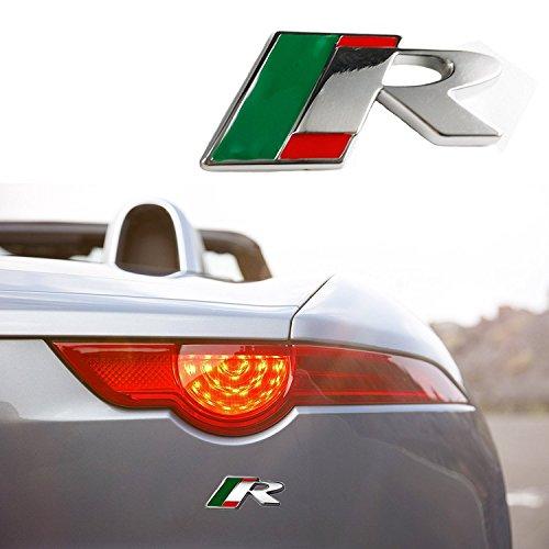 1x R Emblem Badge Metal Decal Sticker for JAGUAR Body Rear Trunk XF XE XKR (Jaguar Decals)