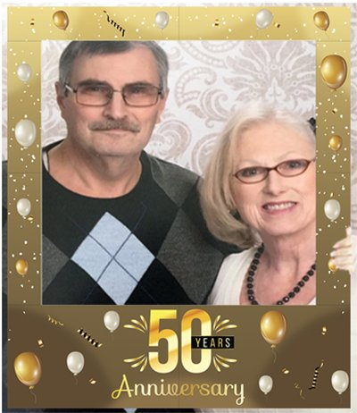 Aahs Engraving 50 Years Anniversary Party Photo Frame Prop, 35 X 30 inches