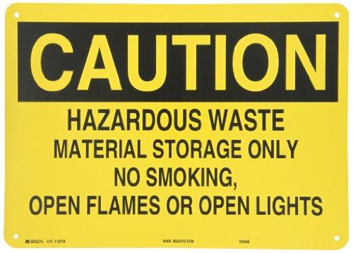 Brady 22708 Plastic Chemical & Hazardous Materials Sign, 10