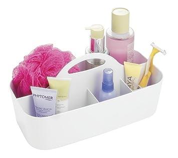 mDesign Badezimmer Korb - 6 Fächer - Organizer Dusche und Bad ...