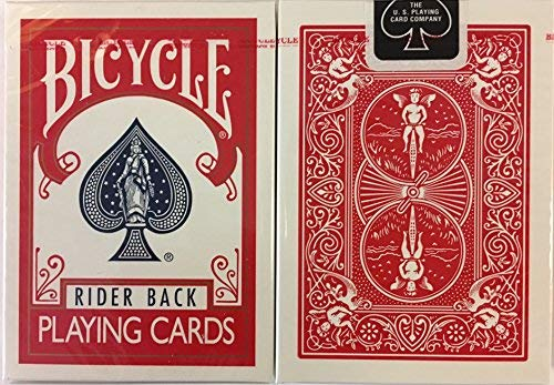 Red Rider Back Bicycle Playing Cards Poker Size Deck USPCC