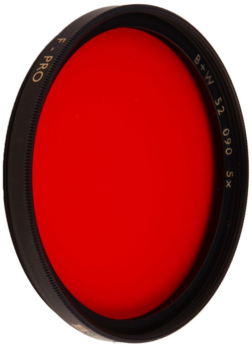 B + W 52mm #090 Glass Filter - Light Red #24 by B + W