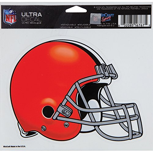 WinCraft NFL Cleveland Browns 16767015 Multi-Use Colored Decal, 5