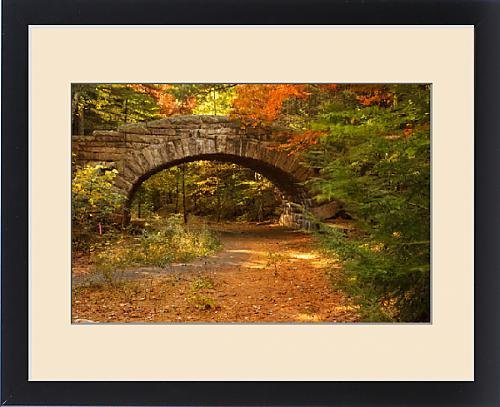 Framed Print of Stone Bridge - part of the Carriage Roads system built by John D by Fine Art Storehouse