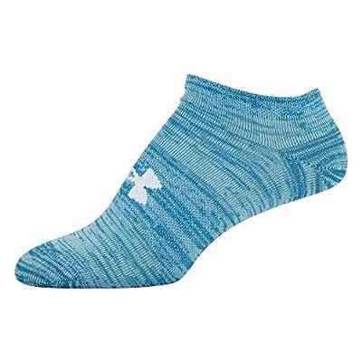Under Armour Womens Essential No Show Socks 4 Pairs, Bayou Blue Assorted, Medium: Clothing