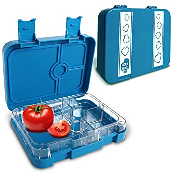 Rebel Chef Bento Lunch Box For Kids & Adults | Leakproof FDA Approved & BPA Free Plastic Kit With 4 Compartments & Removable Tray | For Snacks, Sandwiches, Salads, Fruit & More | Unique Recipe eBook