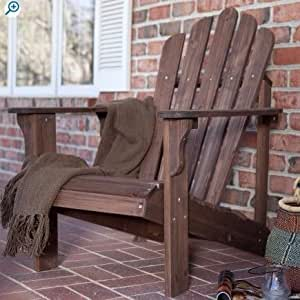 Wood Adirondack Chair|Eco Friendly, Dark Brown
