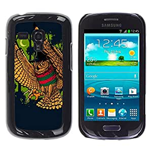 KIKI Tech/duro Smartphone funda - temptable búho luna rexec sabihondo - Samsung Galaxy S3 MINI no regular! I8190 I8190N