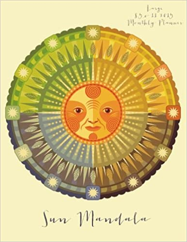 Amazon.com: Sun Mandala Large 8.5 x 11 2015 Monthly Planner (2015 ...