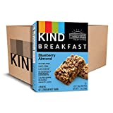 KIND Breakfast Bars, Blueberry Almond, Gluten Free, Non GMO, 1.8oz, 32 Count