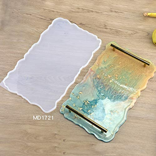 1 Set Joour Tray Mould Handmade Silicone Resin Irregular Fruit Plate Mold Tray Mould Coasters DIY Art