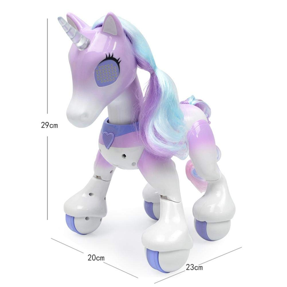 Blueyouth Remote Control Unicorn - Electric Smart Horse, Touch Induction Electronic pet, Features Include Children's Songs, Dancing, Stories, Sleep, Programming, etc. by Blueyouth (Image #2)