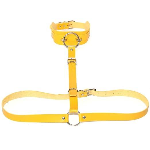 Arnés para el cuerpo Mujeres Punk Cinturón Cinturón Halter Cuello ...