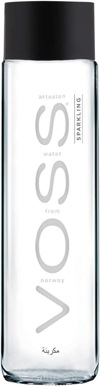 Água Mineral Natural Voss Com Gás 375ml por Voss