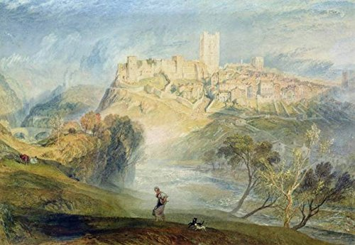 Wall Art Print entitled Richmond, Yorkshire by The Fine Art Masters | 10 x - Hilltop Richmond