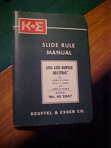 Slide Rule Manual, Log Log Duplex Decitrig No. 68 2047 ()