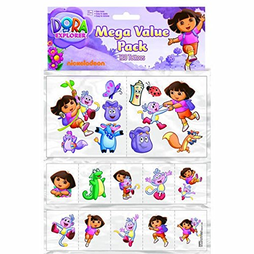 Dora Tattoo Mega Value Pack | Party Favor | 120 Ct. -