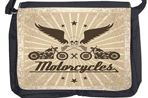 Borsa Tracolla Moto Garage Moto Stampato