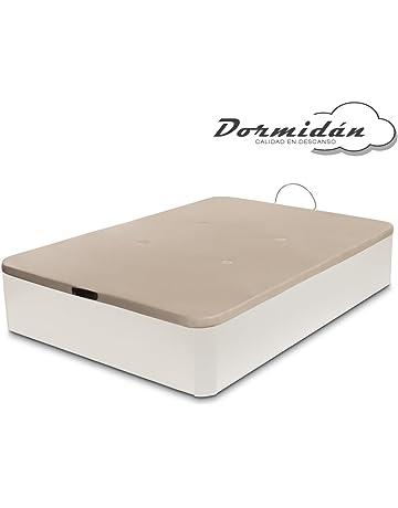 Dormidán Canapé abatible de Gran Capacidad con Esquinas Redondeadas en Madera, Base tapizada 3D Transpirable