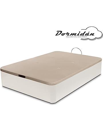 Dormidán - Canapé abatible de Gran Capacidad con Esquinas Redondeadas en Madera, Base tapizada 3D