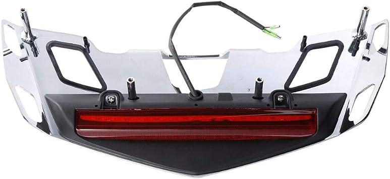 Nrpfell Portaequipajes para Maletero con L/áMpara de Luz de Freno LED para Goldwing GL1800 2018-2019 GL1800B GL1800D Luz Roja
