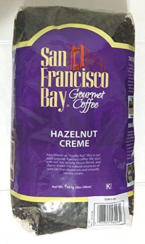 3 Pounds San Francisco Bay Hazelnut Crème Premium Gourmet Whole Bean Coffee First Quality Hand Picked Arabica Beans (San Francisco Whole Bean Coffee)