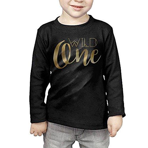 ZheuO Boys & Girls Infant Bohemian Chic Wild One Tribal Gold Foil Soft and Cozy 100% Cotton T-Shirts Unisex Black 2 (14k Sun Hoop)